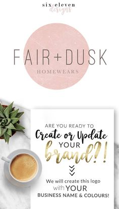 161 Fair Dusk LOGO Premade Logo Design Branding Blog - Modern Branding Solutions for your business - Logos for your business, boutique or blog. Blogger header, Blog Header and social media. Photography Logos, Business Logos, Boutique Logos, Shop Logos, Brand Logos, Super premium, Modern, Unique, special, Chic,