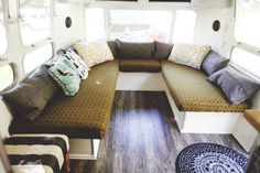 The Wiegands did an awesome job of renovating their Airstream - it's beautiful!