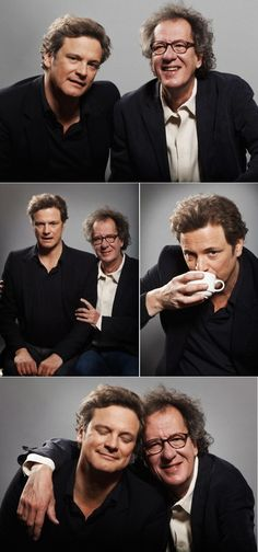 """Between Colin Firth & Geoffrey Rush in """"The King's Speech"""""""