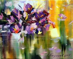 Dmitry Patrushev Was born in city Glazov in Has graduated Glazov's Art School in Was engaged in sculptor, painter, water-col. School Painting, Oil Painting Flowers, Floral Paintings, Different Kinds Of Art, Creative Activities, Art Floral, Botanical Art, Flower Art, Art Decor