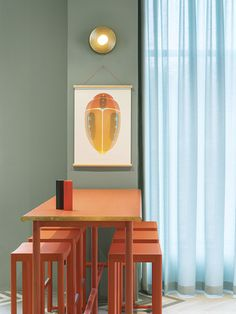 Disc and Sphere Wall Lamp in Stockholm Bistro — ARETI