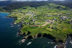 Planicie costera sobre la que se asienta la parroquia de Nois (Foz), en A Mariña de Lugo, frente al mar Cantábrico.