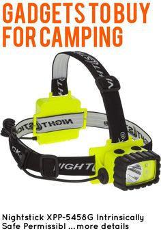 (This is an affiliate pin) Nightstick XPP-5458G Intrinsically Safe Permissible Dual-Light Multi-Function Headlamp, Green Camping Lights, Outdoor Power Equipment, Green, Garden Tools