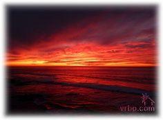 Vivid Red Sunset