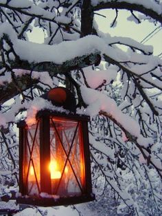 Candles and lanterns /midnightinparis: warm glow on a snowy day I Love Snow, I Love Winter, Winter Colors, Winter Magic, Winter Scenery, Snow And Ice, Snowy Day, Winter Beauty, Winter Pictures