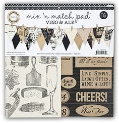 MIX4162 Vino & Ale Mix and Match Pad - by Canvas Corp Brands - scrapbook papers with wine, cheese and beer theme #canvascorp Creative Studio, Discount Curtains, Craft Stores, Online Craft Store, Fabric Crafts, Paper Crafts, Sewing Crafts, Beer Tasting, Wine And Beer