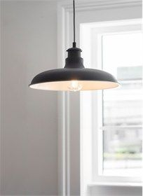 Garden Trading Toulon Pendant Light - Trouva Garden Trading-Lampada a sospensione Toulon Kitchen Pendant Lighting, Kitchen Pendants, Light Pendant, Ceiling Rose, Ceiling Lights, Night Lamps, Black Furniture, Cool Rooms, Led