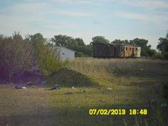 Vagones abandonados.