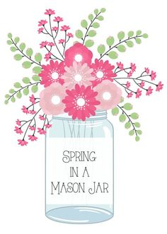 Spring in a Mason Jar from Debbiedoo's