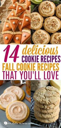 14 Easy Fall Cookie Recipes You'll Be Obsessed With It's time to Fall in love with cookies this season. These autumn inspired cookie recipes are completely irresistible! Easy Fall Cookie Recipes You'll Be Obsessed With! Fall Cookie Recipes, Oatmeal Cookie Recipes, Delicious Cookie Recipes, Chocolate Cookie Recipes, Chocolate Chip Cookies, Fall Recipes, Autumn Recipes Baking, Wedding Cookie Recipes, Autumn Inspired Recipes