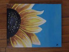 Original Acrylic Sunflower Painting Wall Art