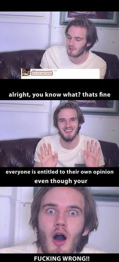 so true who ever hate on pewds is entilteld to that but ur wrong