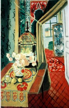 Interior with a Bird Cage by Henri Matisse