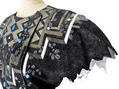 #RobertoCavalli  70s suede dress detail  Lerario Lapadula Fashion Archives  #cavalli #70s #vintage #ice #suede #fashionmuseum #madeinitaly #anni70 #museum #history #moda