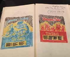 Ray Lowry original sketches for single covers - The Clash: London Calling Museum of London 15 November 2019 – 19 April 2020 Topper Headon, Paul Simonon, Mick Jones, British Punk, Joe Strummer, The Golden Years, London Museums, The Clash, November 2019