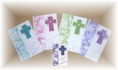 Einladungskarten - Einladungskarte Einladung zur Kommunion - 5 Farben - ein Designerstück von roeschen5 bei DaWanda