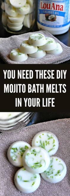 Do you want to nourish and pamper your skin & soul? These DIY Mojito Coconut Oil Bath Melts are what you've been looking for in your natural beauty routine.