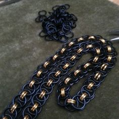 Black and gold collar