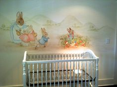 Nursery Mural After The Book Peter Rabbit Coelho Wallpaper Infantil
