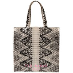 Ted Baker Anacon Snake Printed Icon Shopper - Charcoal - MARIANNE