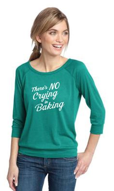 There's No Crying in Baking Apparel l The Smart Baker Women's Baking T-Shirts