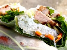 Asian Recipes, Ethnic Recipes, Fresh Rolls, Cabbage, Food And Drink, Chicken, Meat, Vegetables, Cooking