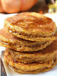Wheat-Free Pumpkin Oat Pancakes
