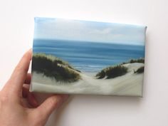 Beach dunes on tiny canvas - Etsy listing at https://www.etsy.com/listing/156623308/sand-dunes-at-the-beach-mini-canvas-art