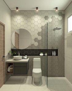 21 Modern And Stylish Bathroom Design Ideas Bathroom Trends, Chic Bathrooms, Bathroom Design Luxury, Modern Bathroom Design, Bad Inspiration, Bathroom Inspiration, Country Style Bathrooms, Bad Styling, Bathroom Styling