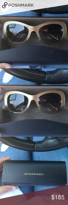 Burberry new sunglasses Brand new never worn authentic Burberry sunglasses. Come with case. Best offer will be considered Burberry Accessories Sunglasses