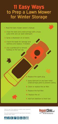 Easy Ways to prepare lawn mower winter storage