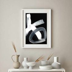 Hand painted symbol wall decor, modern alphabet contemporary art, ready to and on the wall artwork. Minimalist, contemporary, abstract. It will be a wonderful decoration for your home or office and a great gift for your friends and family. No matter the home style, modern, minimalist, art deco, industrial, the painting will add color, joy and depth to your space. Black, white, unbleached titanium. High quality acrylic paints, charcoal and different mediums on stretched canvas, ready to hang.