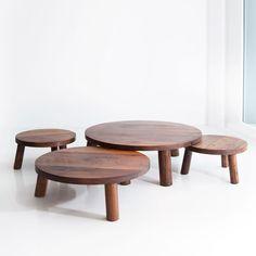 Walnut Trifecta Table by Christian Woo
