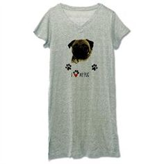 #Artsmith Inc             #ApparelTops              #Women's #Nightshirt #(Pajamas) #Love               Women's Nightshirt (Pajamas) Pug I Love My Pug Dog                            http://www.seapai.com/product.aspx?PID=7578618