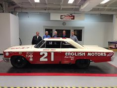 This is the Wood Brothers Racing replica of their 1963 Daytona 500 winning car, the No. 21 Ford Galaxie which was driven by Tiny Lund, will be remembered with a retro paint scheme, which will appear on the No. 21 Fusion this year.