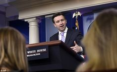 NOT OUR PROBLEM: White House Press Secretary Josh Earnest kicked the can to the State Department on Tuesday when reporters asked about Hillary Clinton's fast-brewing email scandal
