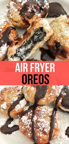 """Deep Fried"" Air Fryer Oreos Weight Watcher Friendly - Recipe Diaries - These Air Fried Oreos are incredible with less guilt! Now you can make the famous fried Oreos at state fairs right at home and it is so simple to do i. Air Fryer Oven Recipes, Air Frier Recipes, Air Fryer Dinner Recipes, Air Fryer Recipes Appetizers, Weight Watchers Desserts, Nutella Cookie, Air Fried Food, 500 Calories, Health And Wellness"