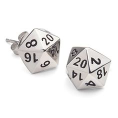 d20 Polyhedral Dice Stud Earrings ($24.99)