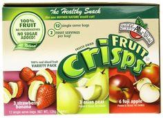 Brothers-ALL-Natural Variety Pack Crisps (Fuji Apple, Asian Pear, Strawberry/Banana),   Single Serve Bags, (pack of 24) by Brothers-ALL-Natural, http://www.amazon.com/dp/B001942GAI/ref=cm_sw_r_pi_dp_5sfyqb0RCMMS5