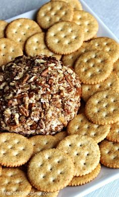 Moms Famous Cheeseball Revisited, Now Made With Chobani Greek Yogurt. {lifeshouldcostless.com}