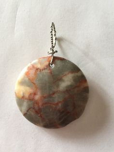 Redline Marble Coin Pendant - pinned by pin4etsy.com