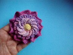 Как вязать цветок Урок 52 Сrochet flower pattern for free Вязание крючком