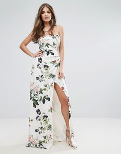 ASOS - StyleStalker Stylestalker Printed Wrap Maxi Dress - Multi - AdoreWe.com