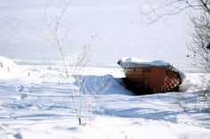 Snow and boat