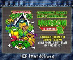 Ninja Turtles birthday invitation TMNT by HappyIndigoPrints