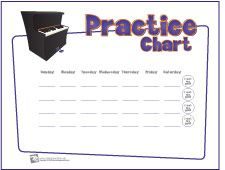 Piano Practice Chart ~ (Kimberly, I thought you might like to see this. Do you think you could use something like this as an incentive for your students?)