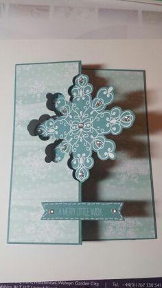 Stampin up Christmas snowflake thinlit die
