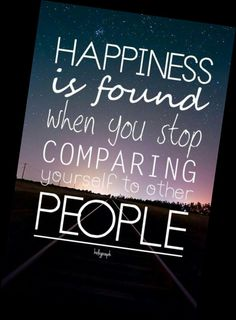 Don't compare be
