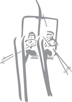 Skiers on chair lift - Pre-Cut Patterns