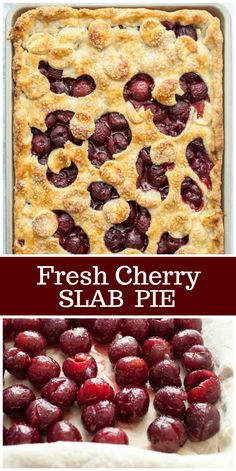 Fresh Cherry Slab Pie recipe from RecipeGirl.com #cherry #slab #pie #recipe #RecipeGirl via @recipegirl